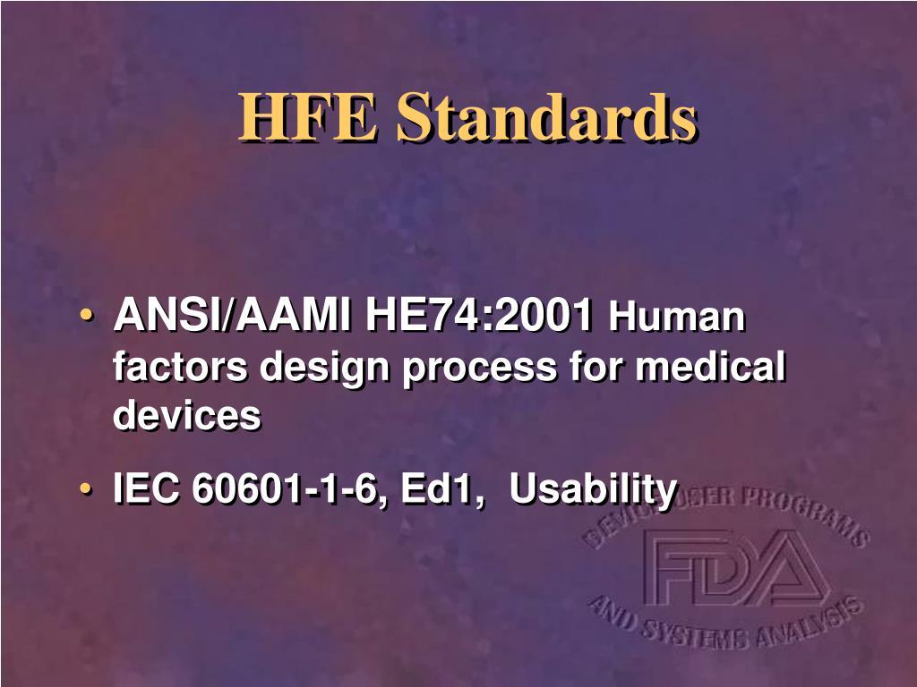 HFE Standards