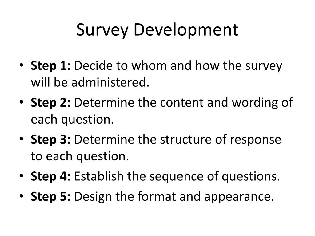 Survey Development