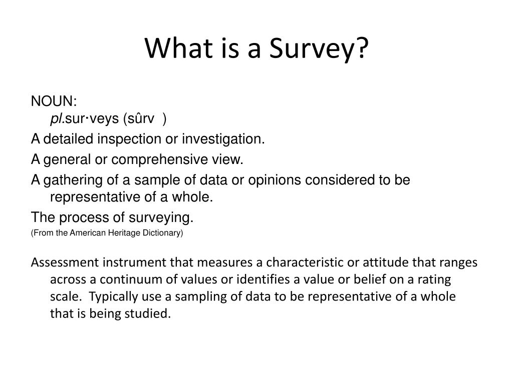 What is a Survey?