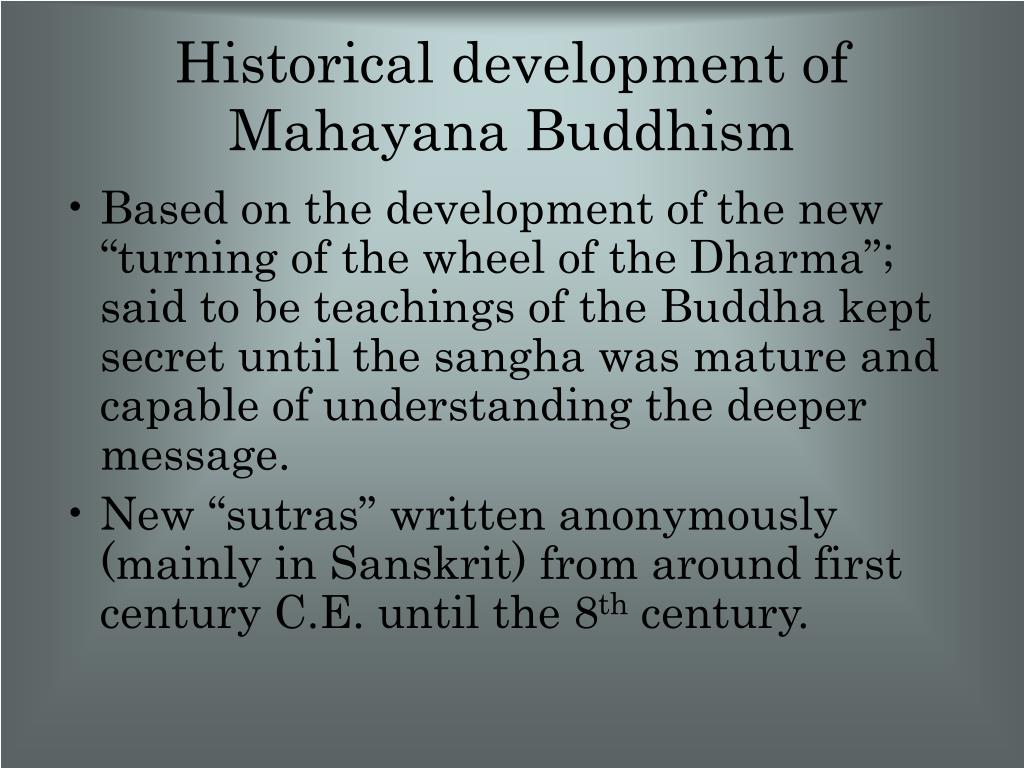 Historical development of Mahayana Buddhism