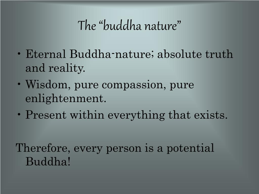 "The ""buddha nature"""