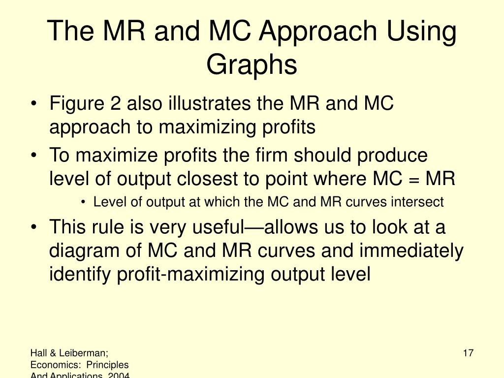 The MR and MC Approach Using Graphs