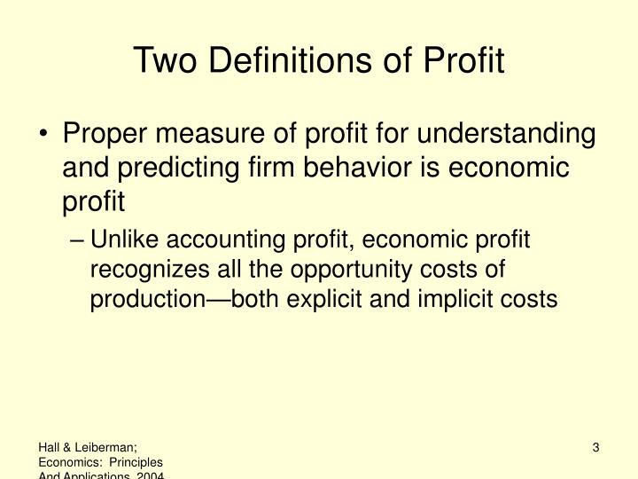Two definitions of profit3