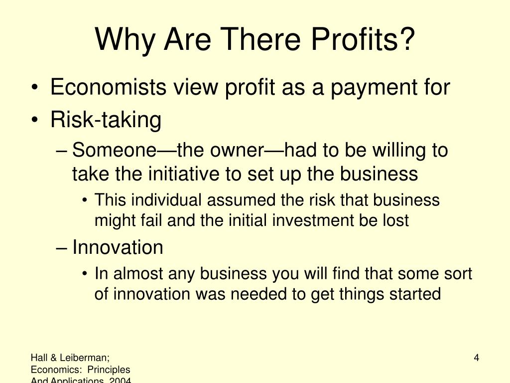 Why Are There Profits?