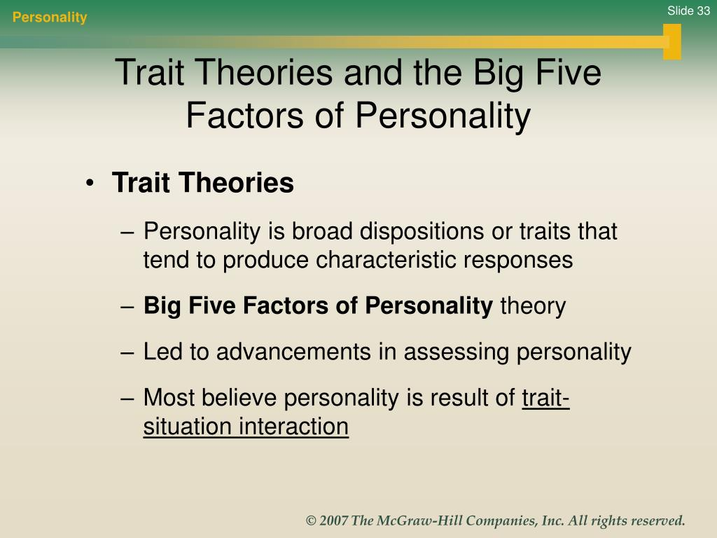 personality assessment and theories