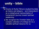 unity bible