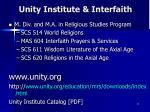 unity institute interfaith