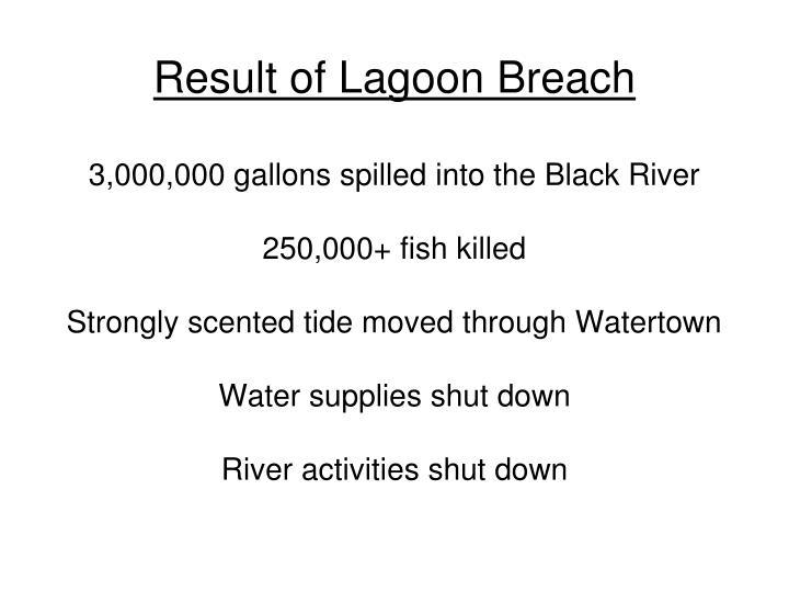 Result of Lagoon Breach