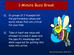 1 minute buzz break