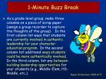 1 minute buzz break72