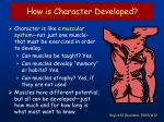 how is character developed