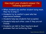 how might your students answer the following questions