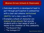 mission driven schools classrooms