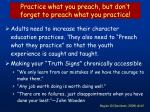 practice what you preach but don t forget to preach what you practice