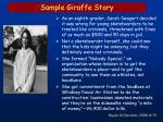 sample giraffe story