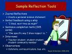 sample reflection tools