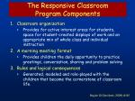 the responsive classroom program components