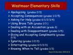 westmoor elementary skills