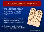 what exactly is character