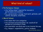 what kind of values
