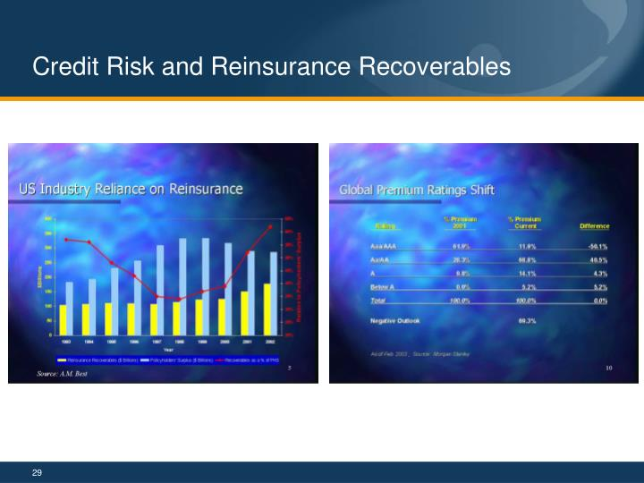 Credit Risk and Reinsurance Recoverables