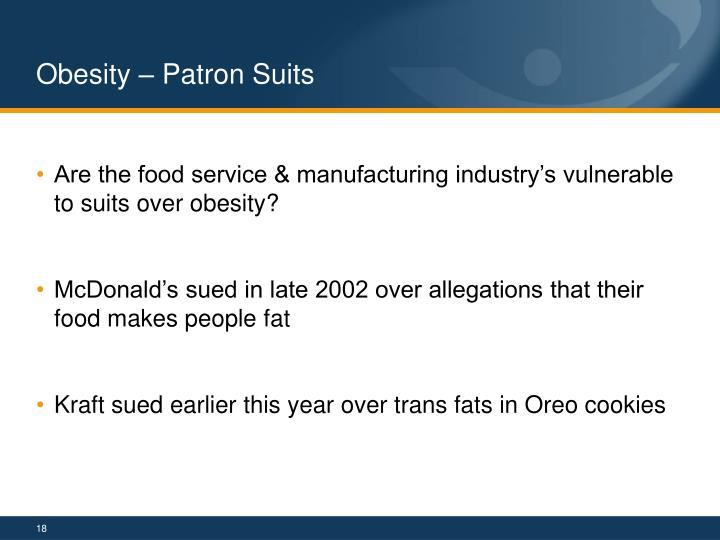 Obesity – Patron Suits
