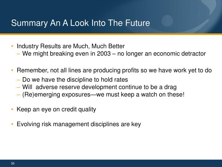 Summary An A Look Into The Future