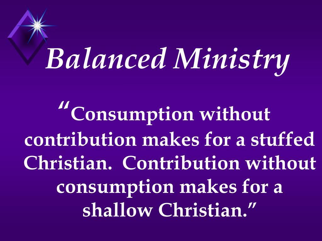 Balanced Ministry
