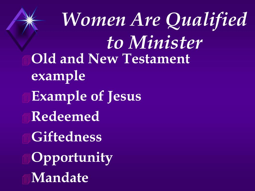Women Are Qualified to Minister