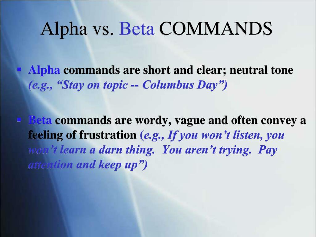 Alpha vs.