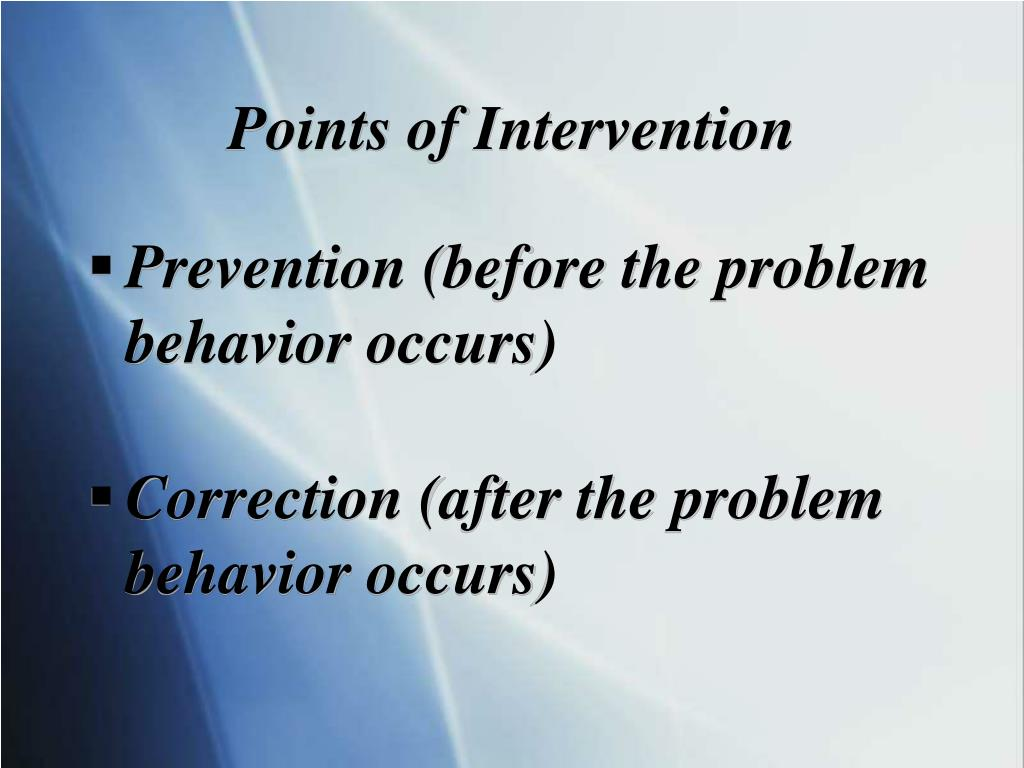 Points of Intervention