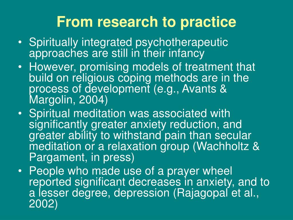 From research to practice