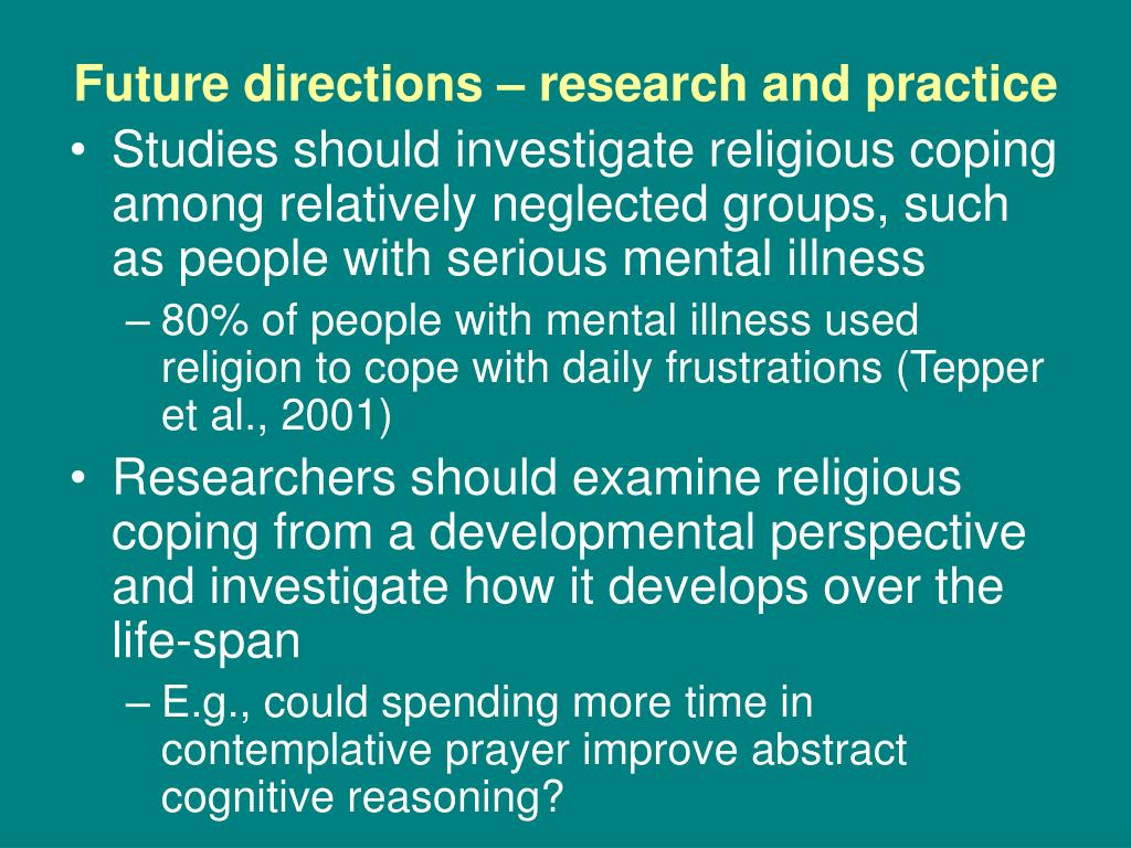 Future directions – research and practice
