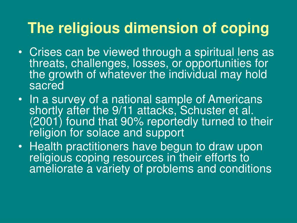 The religious dimension of coping