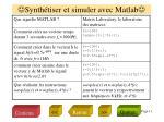 synth tiser et simuler avec matlab1