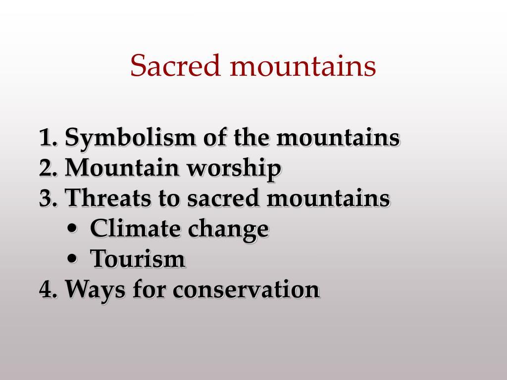 sacred mountains l.