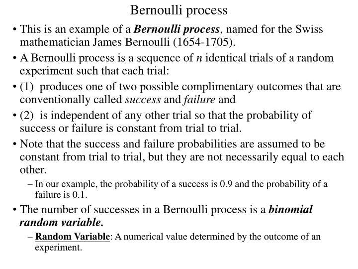 Bernoulli process