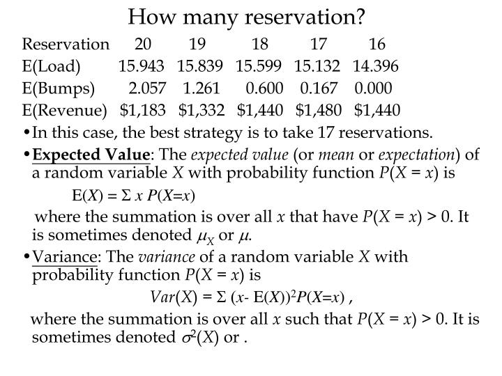 How many reservation?