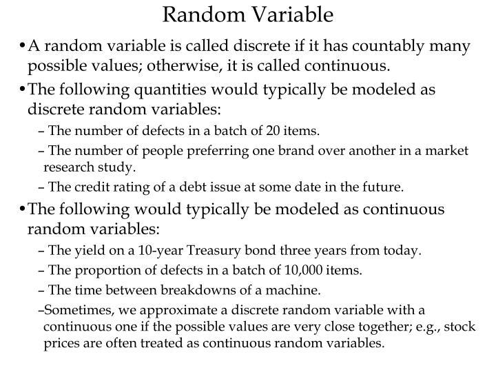 Random Variable