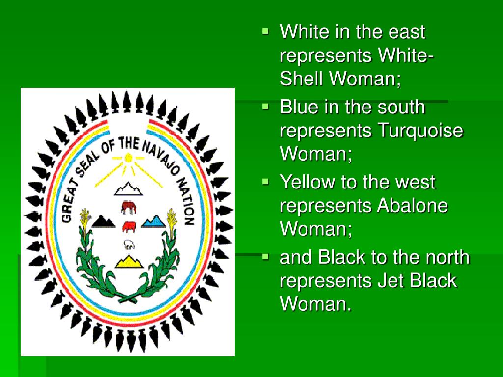 White in the east represents White-Shell Woman;