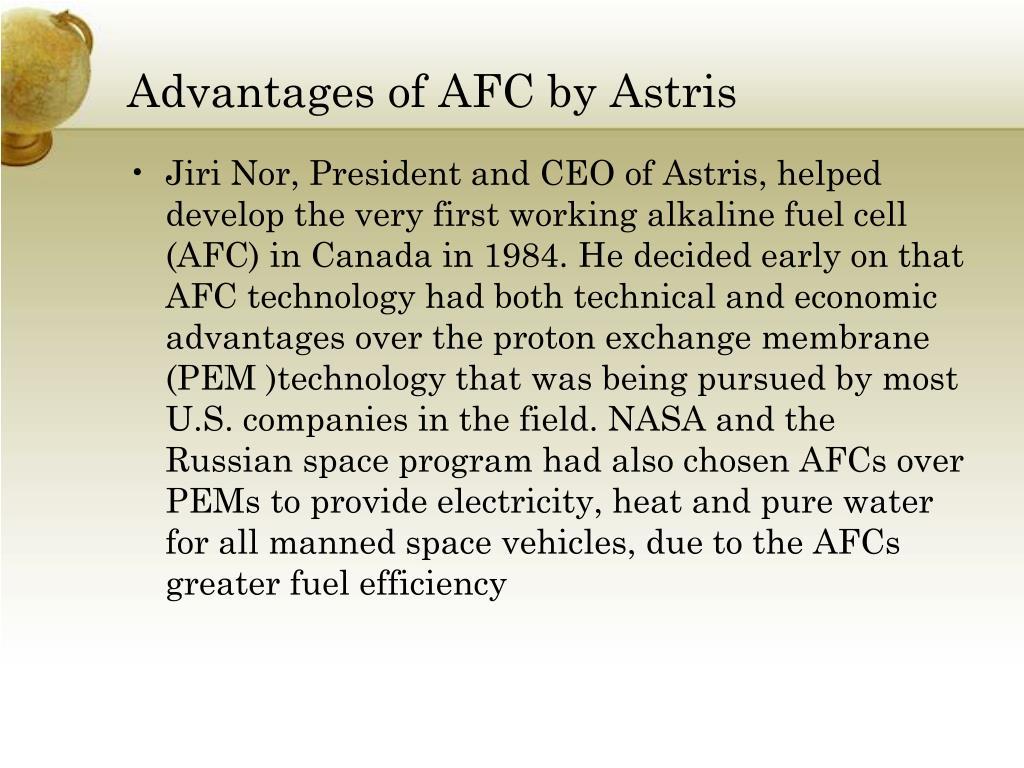 Advantages of AFC by Astris