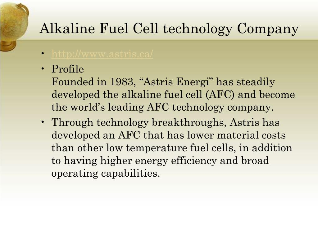 Alkaline Fuel Cell technology Company