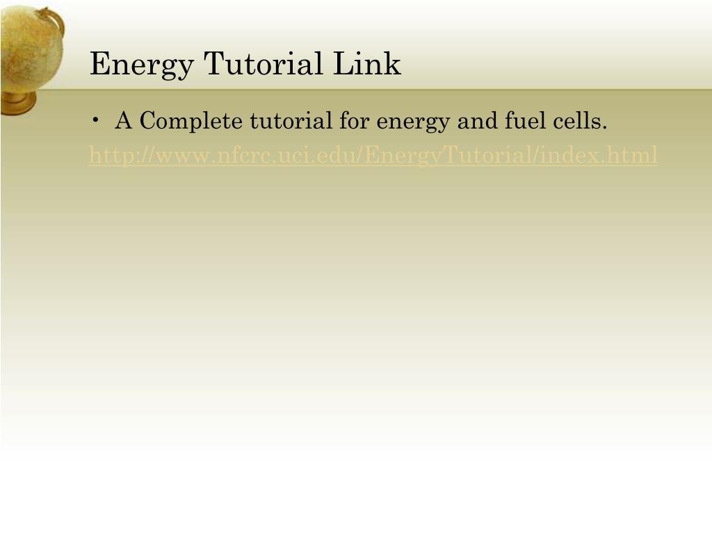 Energy Tutorial Link