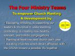 the four ministry teams22
