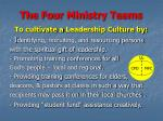 the four ministry teams23