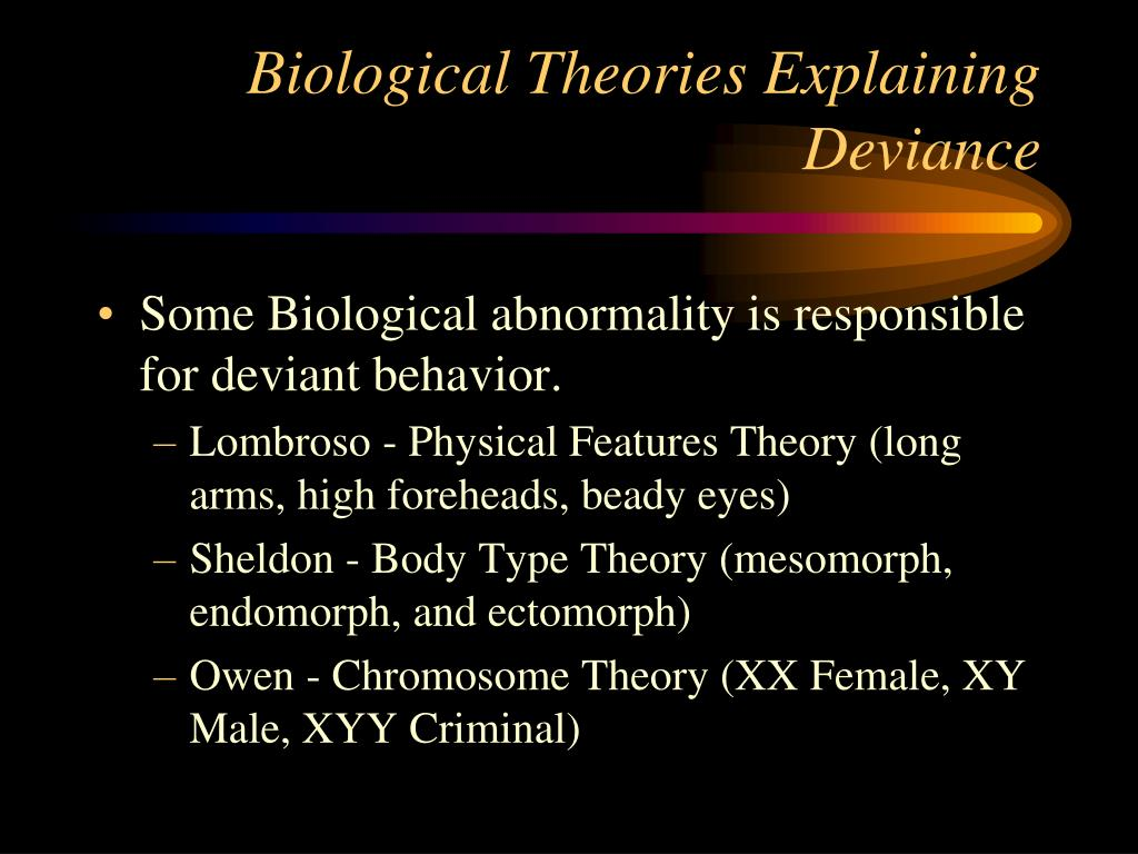 Biological Theories Explaining Deviance