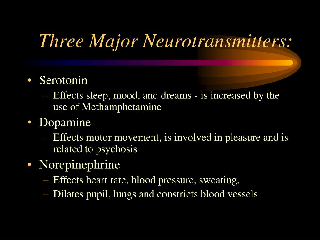 Three Major Neurotransmitters: