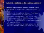 industrial relations of the trucking sector i