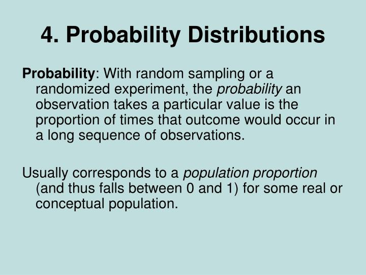 4 probability distributions
