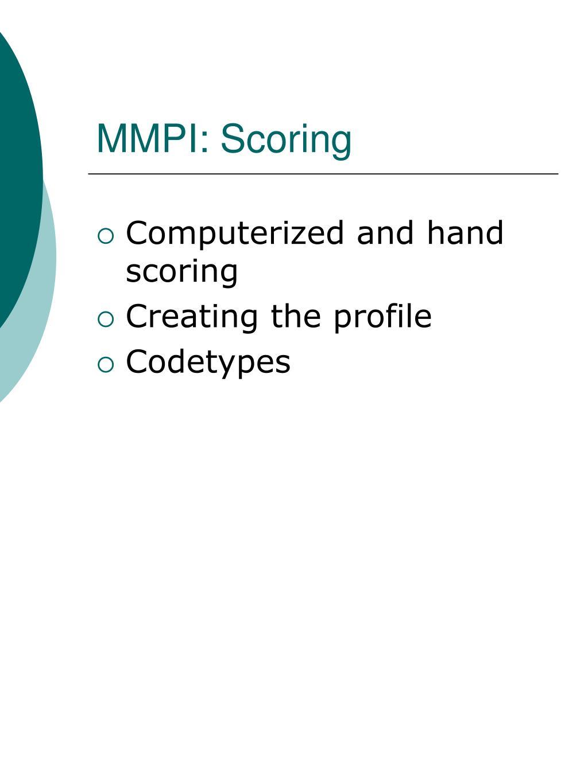 MMPI: Scoring